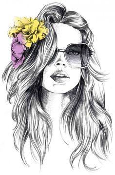 art art girl Fashion Illustrations by Luthe Art And Illustration, Portrait Illustration, Cool Drawings, Drawing Sketches, Drawing Ideas, Drawing Pictures, Arte Fashion, Fashion Fall, Arte Pop