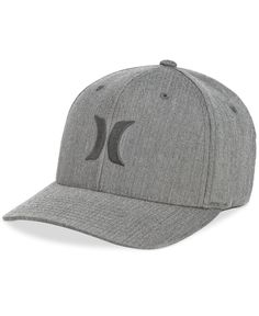 a38b10ca135 Hurley Men s One And Only Texture Flexfit Logo Hat Hat Men