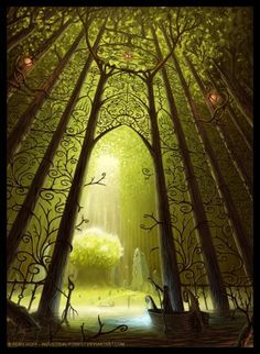 Entrance To The Sacred Tree by *Industrial-Forest on deviantART