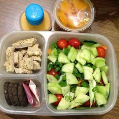 Big #salad packed in an #EasyLunchboxes