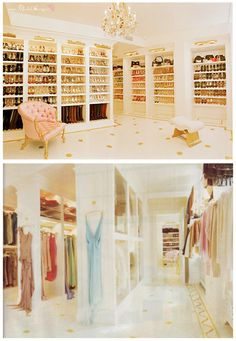 Mariah Carey's closet. Now that's a closet!     [Directions around the closet:  -North Wing. . SHOES.  -South Wing. . CLOTHES.--LOL hehe ;)]