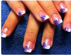 schöne gelnägel 5 besten Page 2 of 5 nagel-design-bilder. Fingernail Designs, Gel Nail Designs, Cute Nail Designs, Nails Design, Art Designs, Purple Nail Art, Purple Nail Designs, Purple Manicure, French Tip Nail Designs