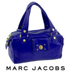 "MARC JACOBS Totally Turnlock PURPLE Benny Satchel AUTHENTIC Signature Gold turnlocks shine at the front & sides of a boxy, supple Italian leather satchel fashioned with MARC JACOBS logo-print lining. - Gold hardware - Top zip closure - Leather BY MARC JACOBS; imported. Strap drop: 7"" 14.5"" wide 8"" high This bag has been kept in EXCELLENT, near PERFECT Condition...Super tiny scuff marks on the zipper hardware would be the only signs of wear. AMAZING, very hard to find handbag from MARC…"