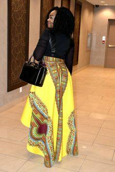 African print skirt Rose Danshiki skirt African by RAHYMA on Etsy