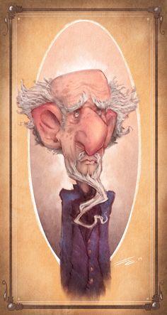 Self-portrait, old man me. Art by Joseph Cowman.