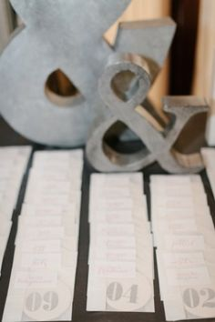 Letterpress Table Number Coasters/ Escort Cards: for Dan & Christina's beautiful wedding by Red Bird Ink Fine Arts Center, Wedding Inspiration, Wedding Ideas, Wedding Favors, Wedding Photos, Reception Decorations, Reception Ideas, Jolie Photo, Wedding Table Numbers