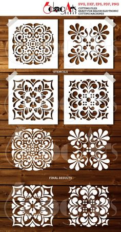 Discover recipes, home ideas, style inspiration and other ideas to try. Stencil Patterns, Stencil Painting, Stencil Designs, Stencil Templates, Embroidery Patterns, Hand Embroidery, Cricut Stencils, Motifs Islamiques, 3d Laser Printer