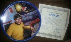 Star Trek Chekov Collector Plate on Etsy