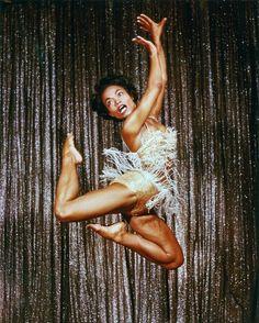 Eartha Kitt performing in Las Vegas, 1955