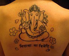 back tattoo fixed ganesh tatt