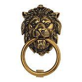 Found it at Wayfair - Brass Lion Door Knocker in Light Antique Brass