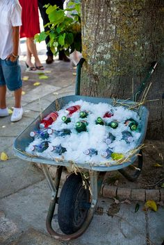 fresh beverages - I love this idea... so cute!