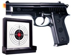 Soft Air Taurus PT92 Spring Powered Airsoft Pistol with Target Black ** To view further for this item, visit the image link.