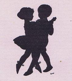 Silhouette Children Dancing