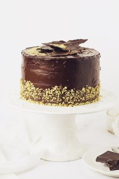 Chocolate and nuts cake How To Make Chocolate, Melting Chocolate, Chocolate Cake, Beautiful Cakes, Amazing Cakes, History Of Chocolate, Breakfast Cake, Cake Flavors, Piece Of Cakes