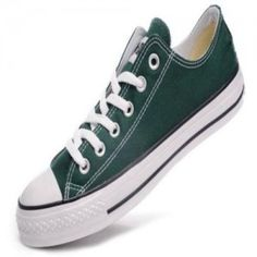 ac884af66e3 Classic Converse Chuck Taylor Low Top Mens Shoes Canvas Darkgreen Green  Converse, Converse All Star