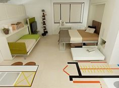 How To Furnish A 300 SF Apartment For New York: Fill It With Transformer Furniture