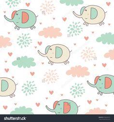 Elephant Pattern Vector Design - 290695010 : Shutterstock