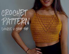 Crochet Pattern | Crochet Crop Top | V Neck Top