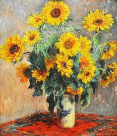 Boquet of Sunflowers, Claude Monet, 1880