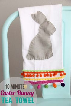 DIY easter bunny tea towel in only 10 minutes!