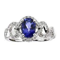 This splendid 18kt white gold sapphire and diamond ring, exclusive to Birks, features an oval blue sapphire weighing 1.60 carat and round cut diamonds with a total carat weight of .39, colour grade GH and clarity SI1. 5,500.00 CAD