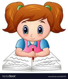 Cartoon girl reading a book Cartoon Cartoon, Cartoon Drawings, Cartoon Characters, Art Drawings For Kids, Drawing For Kids, Art For Kids, Love Cartoon Couple, Birthday Charts, Cartoon Profile Pictures