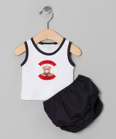 White 'Sailor Bear' Tank & Navy Diaper Cover - Infant by Victoria Kids on  #zulilyfinds