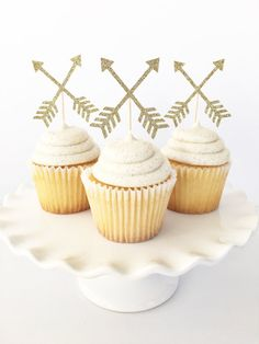 Arrow Cupcake Toppers / Wild One Cupcake Toppers / by PopOfSparkle