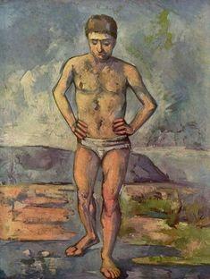 The Bather, 1885-87 by Paul Cezanne #cezanne #paintings #art