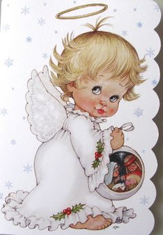 Morehead Baby Child Angel Halo Nativity Scene Christmas Holiday Greeting Card | eBay