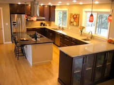 Richland Washington kitchen renovation features CliqStudios Rockford Cherry Russet cabinets
