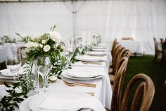 A Chic New Zealand Ceremony / Wedding Style Inspiration Marquee Wedding, Wedding Ceremony, Garden Marquee, Wedding Styles, Wedding Ideas, Style Guides, New Zealand, Real Weddings, Table Settings