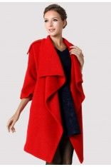 Chicwish Drape Red Cape  #chicwish