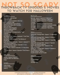 List of Must Watch Not So Scary Throwback Halloween Movies & TV Episodes