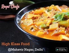Tastiest Food From The Kitchen Of High klass tiffen @ New Mahavir Nagar Order your menu. chefs are ready to deliver it at your doorstep.‪#‎Royalchefs‬  Download The App Now. Link - https://goo.gl7zgs0I