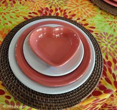 Fiestaware Valentine's Day!!  Ooooo, the heart serving bowl on top! Mine is red!