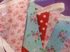 Floral and spot bunting available from Bella and the Moo