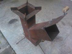 Cocina Cohete Transportable artesanal. Handmade rocket stove - YouTube