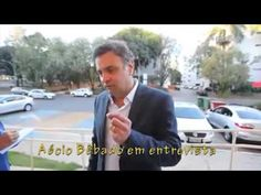 Candidato Aécio Neves dando entrevista bêbado