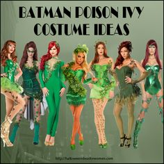 Love these Batman poison ivy costume ideas for Halloween or Cosplay http://halloweenideasforwomen.com/batman-poison-ivy-costume-ideas-for-halloween/