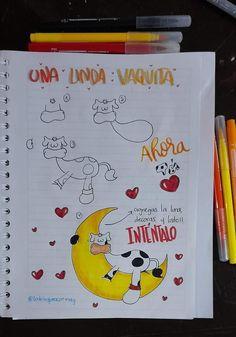Cumpleaños Diy, Diy Home Crafts, Hobbies, Doodles, Notebook, Bullet Journal, Lettering, Drawings, Amor