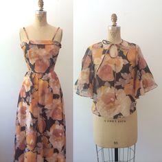 vintage maxi dress / floral print maxi / Poppy maxi dress by nocarnations on Etsy https://www.etsy.com/listing/188629798/vintage-maxi-dress-floral-print-maxi