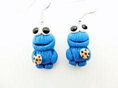 Cookie+Monster+Ohrhänger+Krümelmonster+Keks++von+Kinderschmuck++auf+DaWanda.com