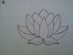 This lotus drawing is the exact shape I want for my lotus tattoo. I love the complexity and the fullness in the petals as a line drawing. It's been hard finding a lotus with vertical symmetry. This with an om in the front center petal would be perfect.