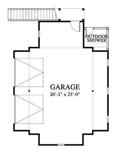 11345 Garage House Plan Design from Allison Ramsey Architects Garage House Plans, Second Floor, Architects, Floor Plans, Exterior, Flooring, How To Plan, House Styles, Design