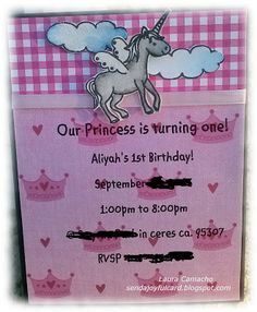 Sendajoyfulcard 1st Birthday Invites Cricut Cards Invitations