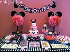 Minnie Mouse Dessert Bar I have to do this for my daughters 2nd birthday!!!