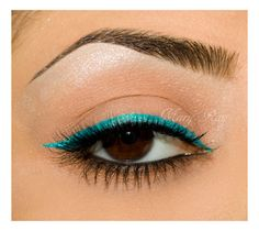 Ocean Line- Beautiful (note to self: when I try, blend out brow bone with a matte bone white, then apply a shimmer white highlight and blend well)