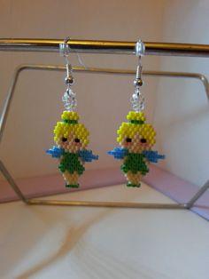 """Boucles d'oreilles """"Fée clochette"""" en perles Miyuki : Boucles d'oreille par creathy"""